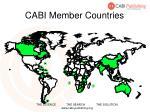 cabi member countries