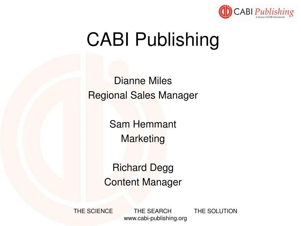 cabi publishing l.