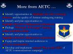 more from aetc