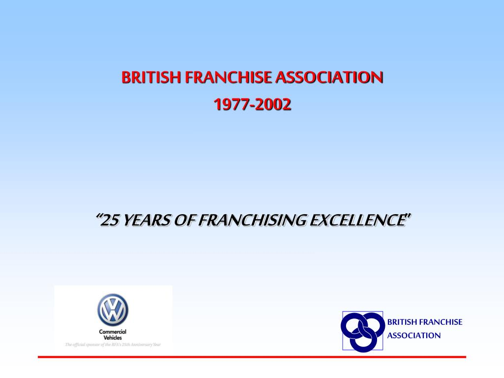 british franchise association 1977 2002 l.