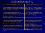 some definitions of ai