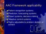 aac framework applicability