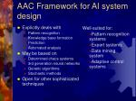 aac framework for ai system design