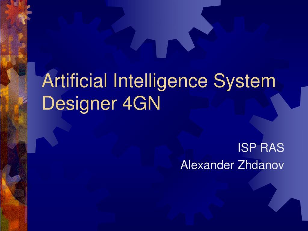 artificial intelligence system designer 4gn l.