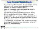 asian american website growth
