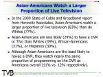 asian americans watch a larger proportion of live television