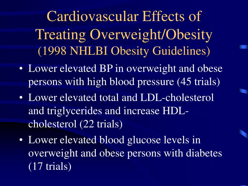 Cardiovascular Effects of Treating Overweight/Obesity