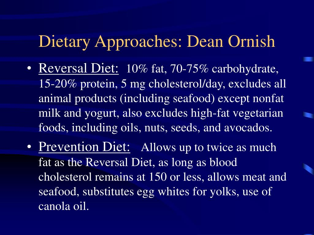 Dietary Approaches: Dean Ornish