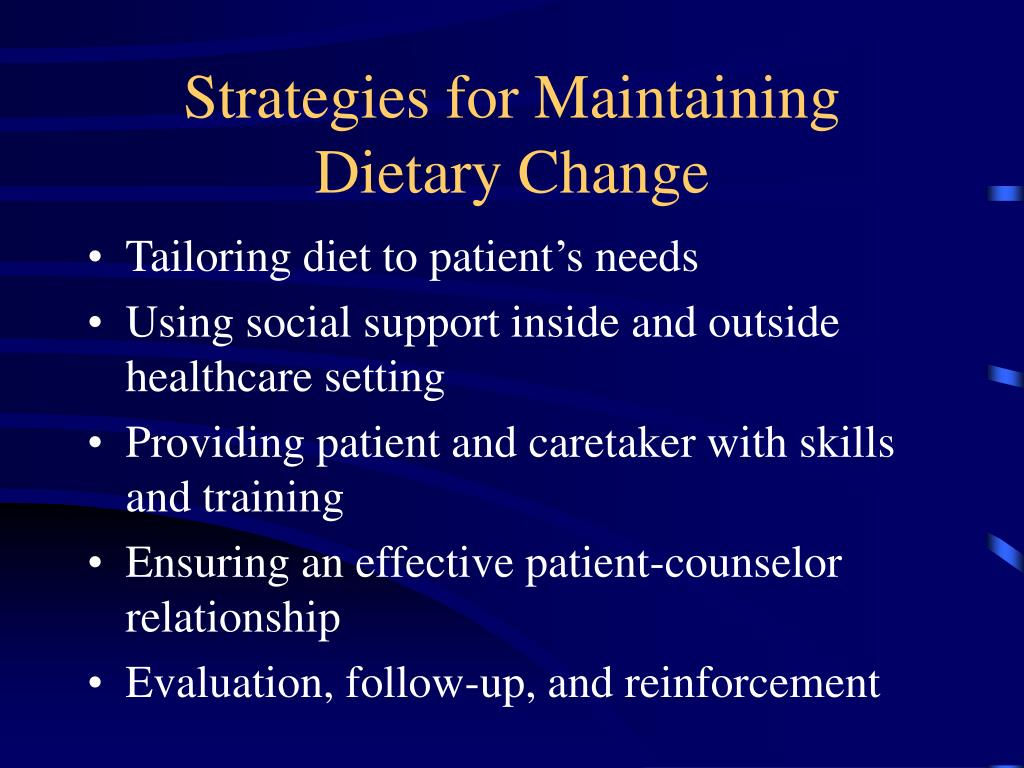 Strategies for Maintaining Dietary Change