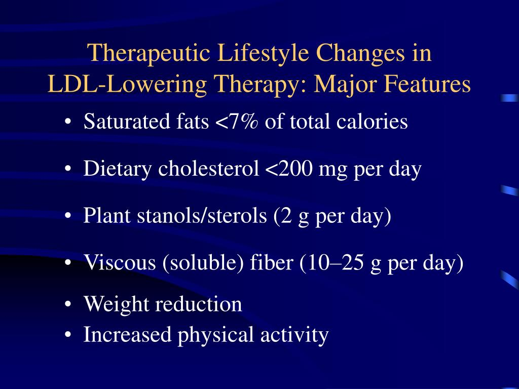 Therapeutic Lifestyle Changes in