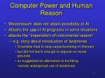 computer power and human reason