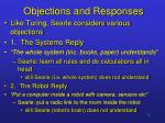 objections and responses