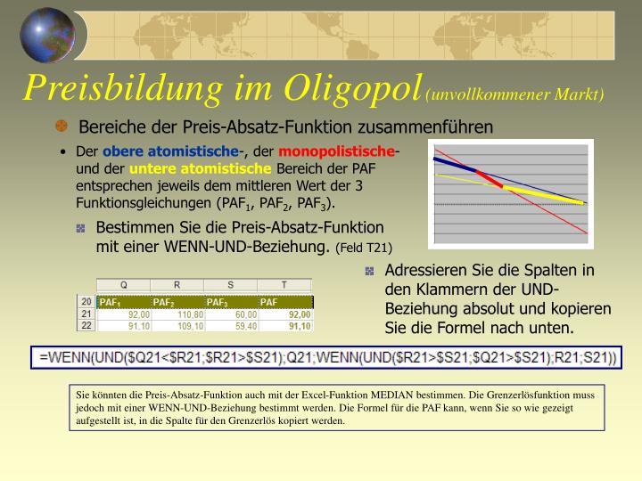 ppt preisbildung im oligopol unvollkommener markt. Black Bedroom Furniture Sets. Home Design Ideas