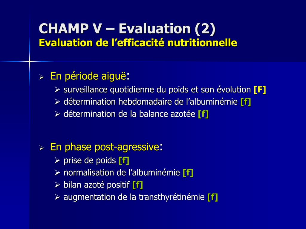 CHAMP V – Evaluation (2)