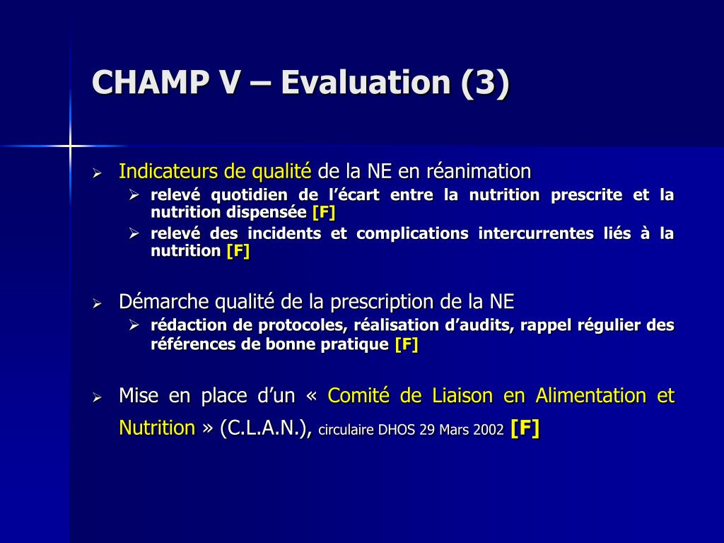 CHAMP V – Evaluation (3)