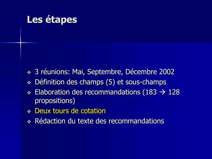 Les tapes