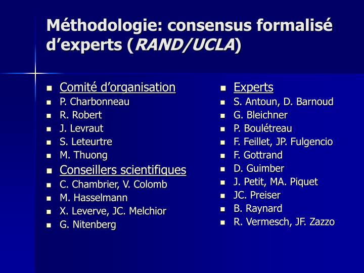 M thodologie consensus formalis d experts rand ucla