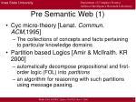 pre semantic web 1