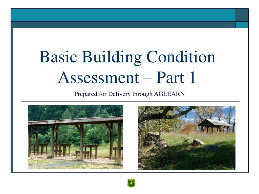 basic building condition assessment part 1 l.