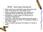 hpar zone power estimation