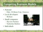 competing business models