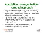 adaptation an organisation centred approach