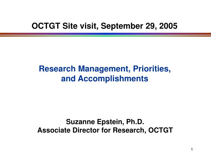 octgt site visit september 29 2005 n.