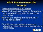 apss recommended tpa protocol32