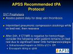 apss recommended tpa protocol33