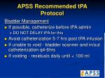 apss recommended tpa protocol34
