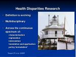 health disparities research