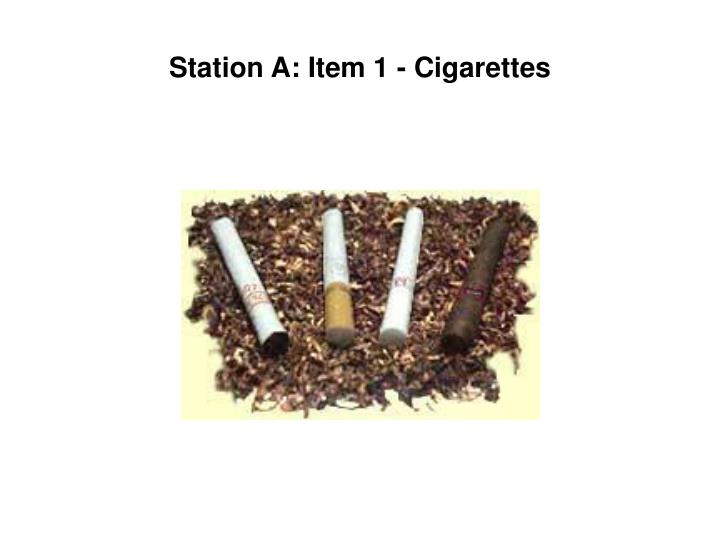 station a item 1 cigarettes n.