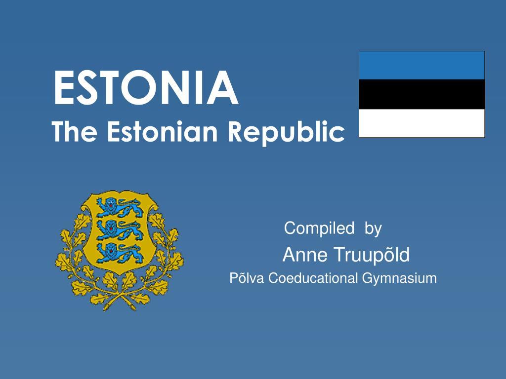 estonia the estonian republic l.