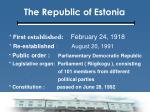 the republic of estonia