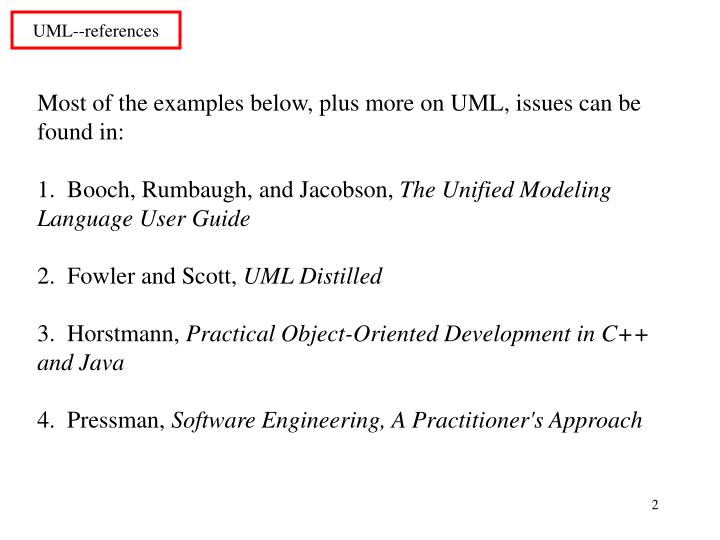 Uml references