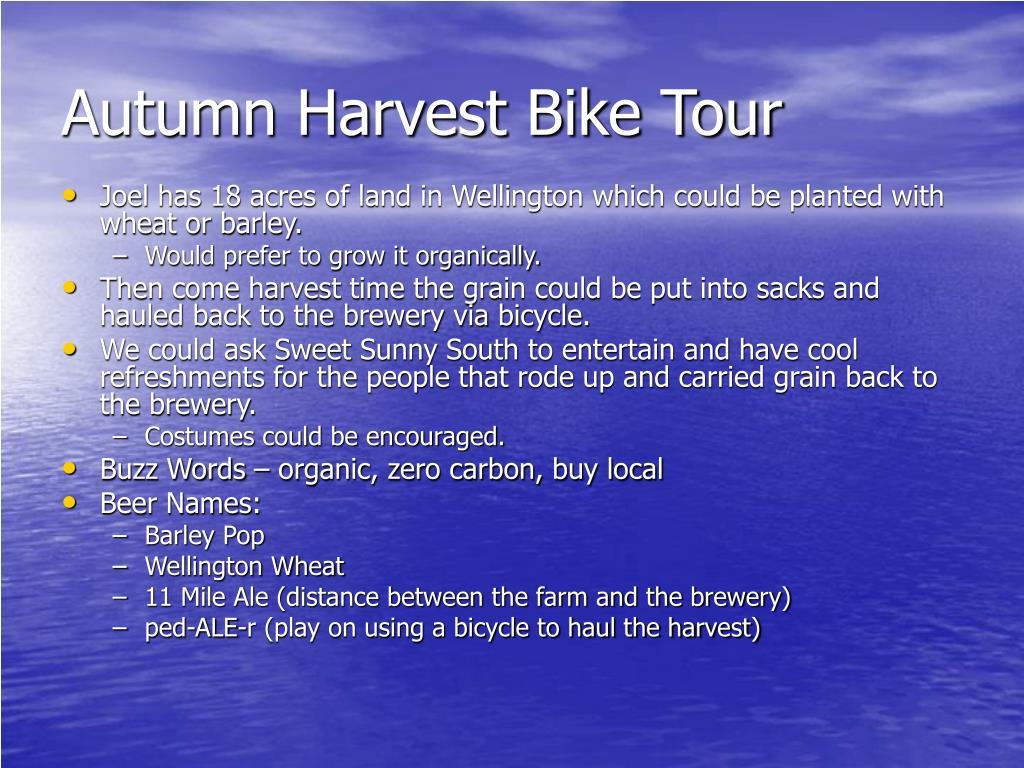Autumn Harvest Bike Tour