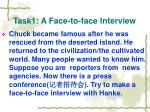 task1 a face to face interview