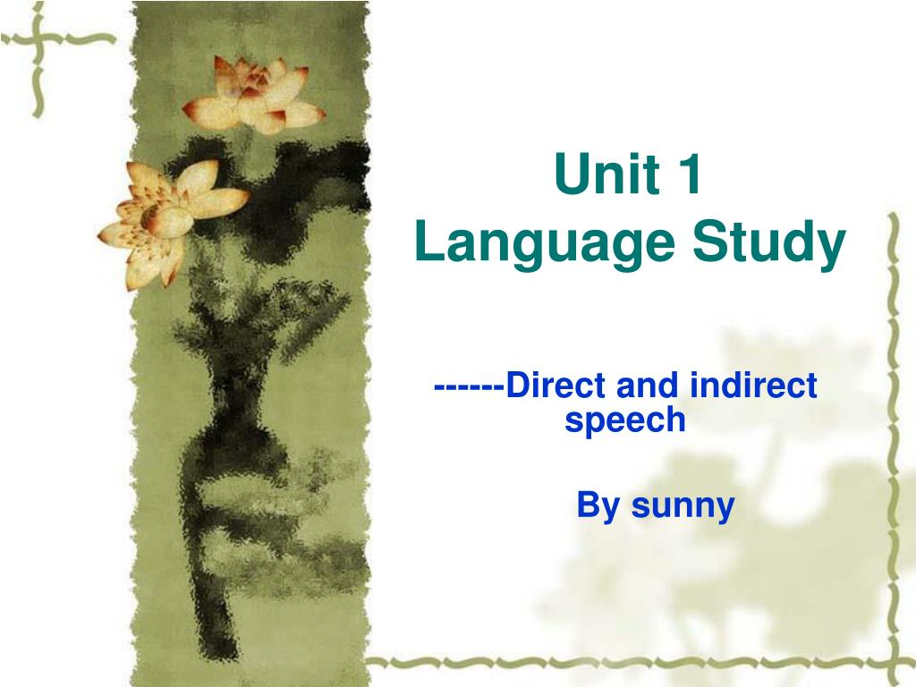 unit 1 language study l.