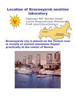 location of krasnoyarsk neutrino laboratory