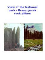 view of the national park krasnoyarsk rock pillars