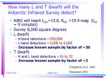 how many l and t dwarfs will the antarctic infrared survey detect