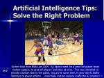 artificial intelligence tips solve the right problem58