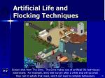 artificial life and flocking techniques89
