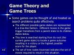 game theory and game trees