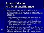 goals of game artificial intelligence