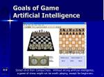 goals of game artificial intelligence7