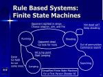 rule based systems finite state machines77