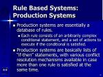 rule based systems production systems