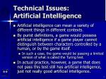 technical issues artificial intelligence2