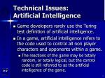 technical issues artificial intelligence4